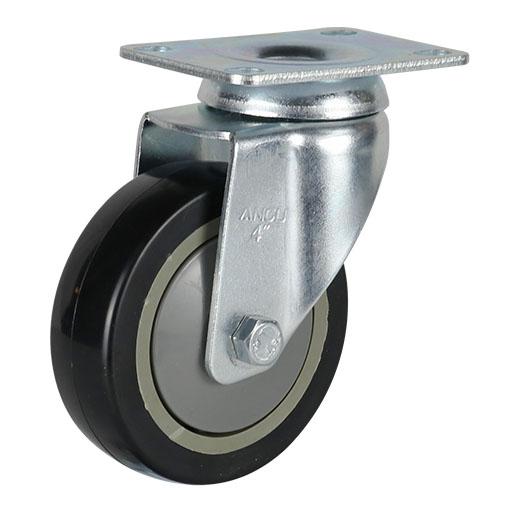 56系列中型黑色单轴承改性聚氨酯轮