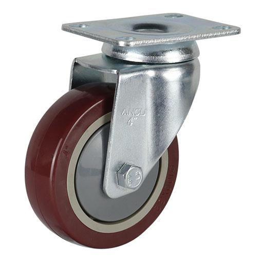 56系列中型枣红单轴承改性聚氨酯轮