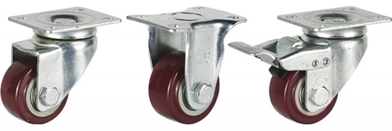 35系列 中轻型枣红双轴聚氨酯轮