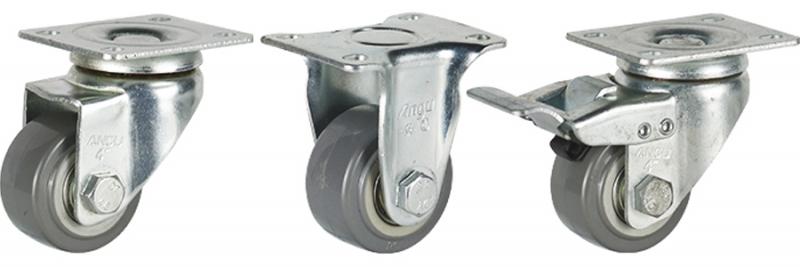 35系列 中轻型灰色双轴聚氨酯轮