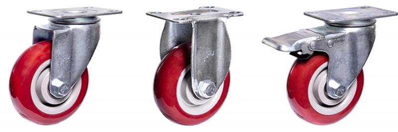 54系列 中型枣红双轴改性聚氨酯轮