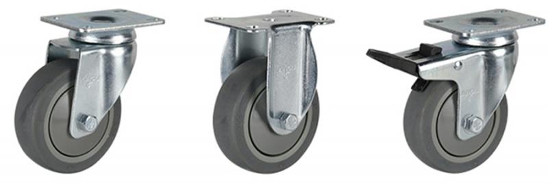 56系列 中型灰色单轴承超级人造胶轮