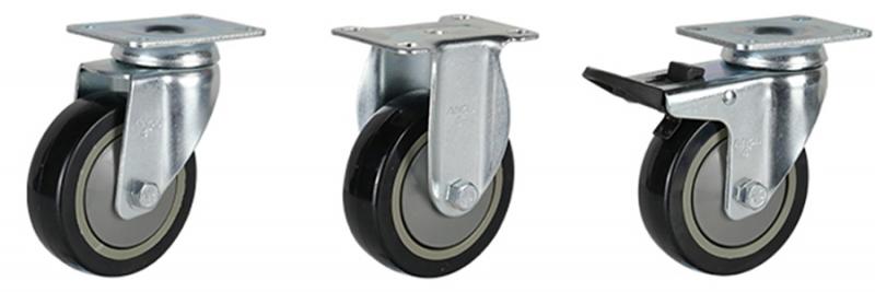 56系列 中型黑色单轴承改性聚氨酯轮