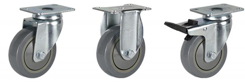 56系列 中型灰色单轴承改性聚氨酯轮