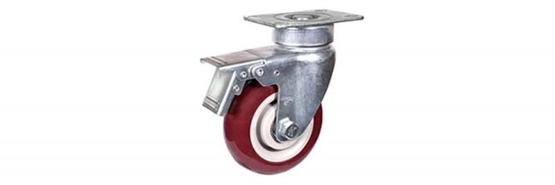 57系列 中型枣红双轴改性聚氨酯轮