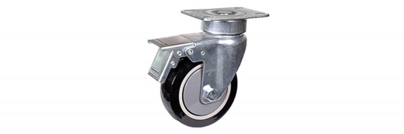 57系列 中型黑色单轴承改性聚氨酯轮