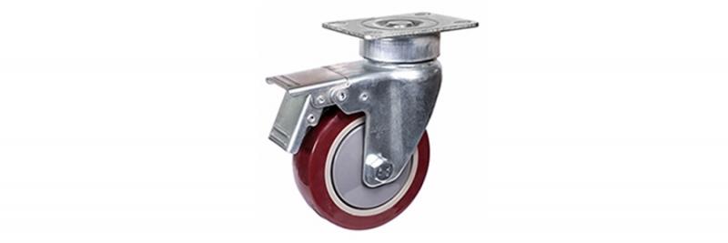 57系列 中型枣红单轴承改性聚氨酯轮