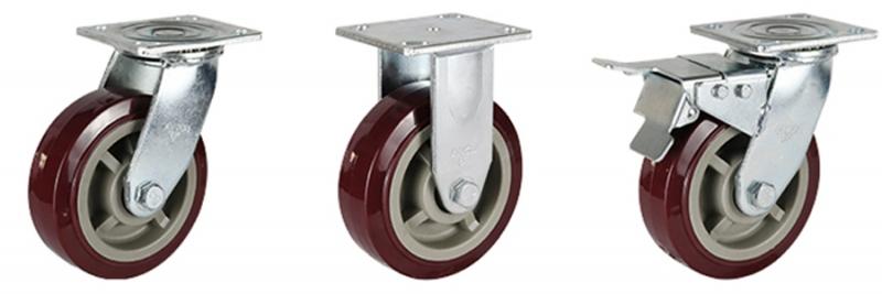 77系列 重型枣红色改性聚氨酯轮