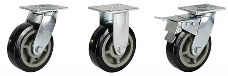 77系列 重型超级聚氨酯轮(黑色)