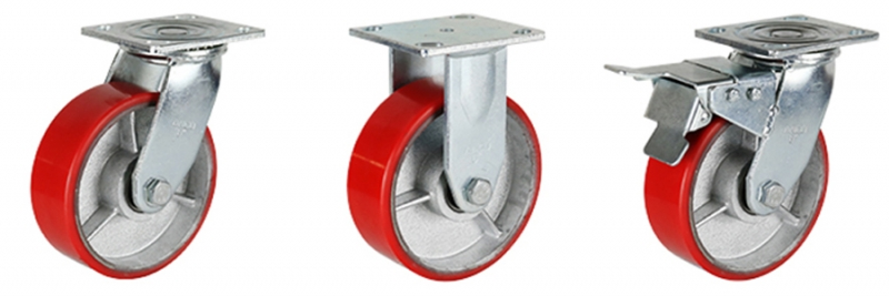 77系列 重型铁芯聚氨酯轮(方顶)